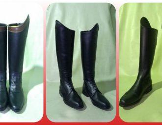 Botas artesanais de equitação material sintético